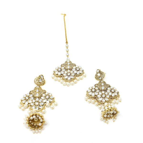 Indian Jewelry Pehila Tikka Earring Set