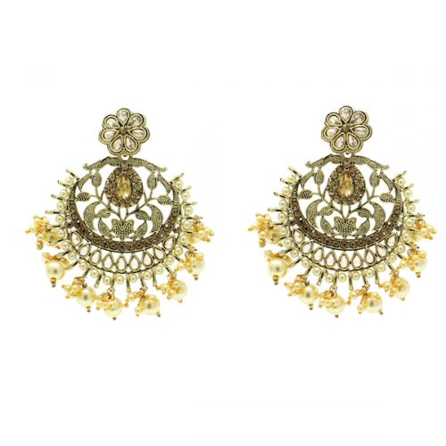 Indian Jewelry Polki Kundan Tikka Earring Set