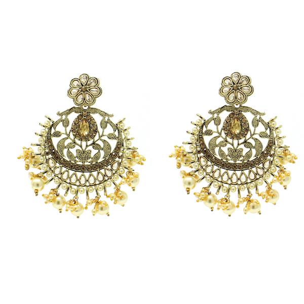 Indian Jewelry Polki Kundan Tikka Earring Set