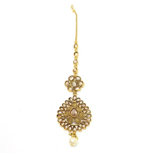 Indian Jewelry Polki Set Tikka Necklace Earrings Full Bridal Set