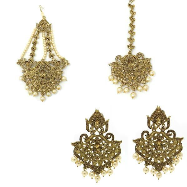 Indian Jewelry Tikka Set Jhoomar Set