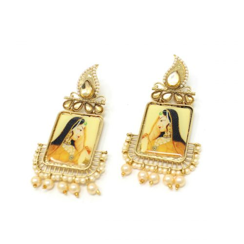 Indian Jewelry Kundan Artificial Stone Maharani Earrings Meera