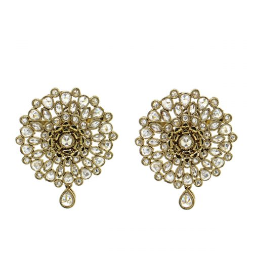 Indian Jewelry Polki Stud Earrings Yalani