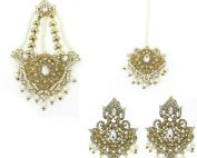 Indian Jewelry Jhoomar Tikka Set