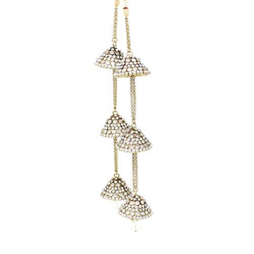 Indian Jewelry Polki Clear Stone Kaleeray Kalire